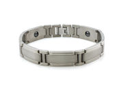 Titanium Satin/High Polish Classic Magnetic Bracelet 8.5""