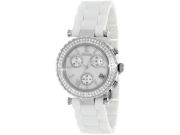 Precimax Women's Lily Elite Crystal PX13190 White Ceramic Quartz Watch with Mother-Of-Pearl Dial