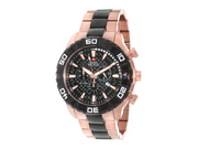 Swiss Precimax Men's Valor Elite SP12055 Rose-Gold Stainless-Steel Swiss Chronograph Watch with Black Dial