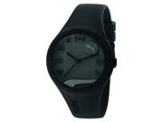Puma Men's PU103001002 Black Silicone Quartz Watch with Black Dial