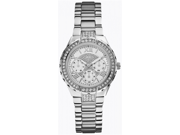 Guess Women's U0111L1 Silver Stainless-Steel Quartz Watch with Silver Dial