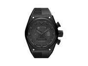 Emporio Armani Men's Super Meccanico AR4903 Black Rubber Analog Quartz Watch with Black Dial