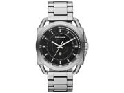 Diesel Men's DZ1579 Silver Stainless Steel Analog Quartz with Black Dial Watch