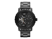 Fossil Men's Nate ME1133 Black Stainless-Steel Analog Quartz Watch with Black Dial