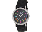 Timex Women's Weekender T2N855 Black Nylon Analog Quartz Watch with Black Dial