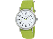 Timex Women's Weekender T2P145 Green Nylon Analog Quartz Watch with White Dial