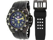 Luminox Men's Deep Dive 1526 Black Rubber Swiss Quartz Watch with Black Dial