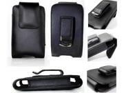 Black Holster Leather Case Cover with Belt Clip for Apple iPhone 4 4G 4S 4GS, Apple iPhone 3G, Apple iPhone 3G S 16GB 32 GB, iPod Touch, iPoud Classic, Microsoft Zune, Motorola Q