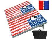 American Flag Cornhole Game Set - Includes 2 boards and 8 bean bags.