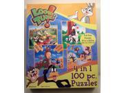 Looney Tunes 100 Piece 4 in 1 Puzzle Set