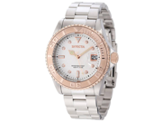 Invicta 12837 Men's Pro Diver Rose Gold Tone Bezel White Dial Automatic Dive Wat