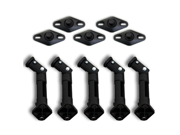 Seismic Audio - (5) NEW BLACK Ceiling Wall Speaker Brackets Mounts BOSE