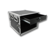 Seismic Audio - 8 Space Rack Flight Case with 2 Space Rack Drawer