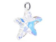 Star Clear AB Swarovski Crystals Sterling Silver Pendant Charm