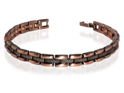 "Copper Clad Magnetic Golf Power Link Bracelet 7.5"" Long with Fold over Clasps"