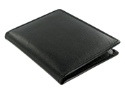 Leather Passport 5 Credit Card Holder Travel Wallet Black