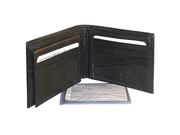 Mens Bifold Flip ID Credit Card Holder Black Wallet