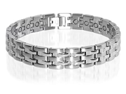 Stainless Steel New Silver Tone Magnetic Bracelet 8.75 inch
