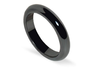 Simulated Hematite 4mm Magnetic Mens Band Size 10