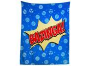 Big Bang Theory Large Blue Bed Throw
