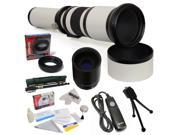 Opteka 650-2600mm Super HD Telephoto Lens for Sony Alpha SLT A35 A37 A55 A58 A65 A77 A99 A100 A200 A230 A300 A330 A350 A380 A390 A450 A500 A550 A700 A850 A900 DSLR Digital Camera with Accessories