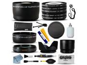 Lenses & Filters Accessories Bundle Kit includes Macro + Telephoto + Lens Cap + Hood + CPL UV FLD Lens Filter Set for Canon EOS Rebel SL1 XT XTi XS XSi T1i T2 T2i T3 T3i T4i T5 T5i DSLR Digital Camera