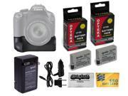 Opteka BG-E8 Vertical Shutter Battery Grip + 2x LP-E8 LPE8+ Charger For Canon EOS T5i T4i T3i T2i