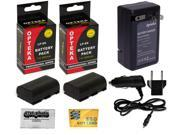 2x LP-E6 LPE6 2600 mAh Battery + Rapid Travel Charger for Canon EOS 6D 60D 60Da 70D 7D Mark 5D II III DSLR