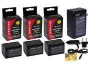 3 Pcs NP-FV70 NPFV70 Battery + Rapid Travel Charger for SONY Handycam DCR-SX45 CX190 CX260 PJ260 DCR-SX85 DCR-SR88 HDR-CX760 DEV-3 DEV-5 HDR-CX760V CX430V CX380 CX290 NEX-VG900 VG30 VG20H VG20 VG10