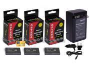 3 Pcs NP-BN1 NPBN1 Battery + Rapid Travel Charger for Sony DSC WX220 WX150 WX100 WX80 WX70 WX50 WX9 WX7 WX5 W830 W800 W730 W710 W690 W650 W630 W620 W610 W570 W560 W530 W510 W390 W380 W360 W350