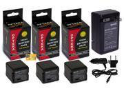 3 Pc VW-VBG260 VBG260 Battery + Charger for Panasonic Camcorder HDC SDR VDR AG PV AC7 HMC40 HMC70 HMC150 HS100 HS20 HS200 TM700K TM300 TM20S SDT750K SX5 SD700K SD700 SD600 SD9 H90K H80R H80A H80K H80S