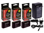 3 Pc LP-E12 LPE12 LP E12 Lithium Battery + Rapid Travel Charger for CANON EOS M M2 100D Rebel SL1