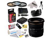 Sigma 10-20mm f/4-5.6 EX DC HSM Autofocus Lens for Nikon D3200 D3300 D5200 D5300 with 77MM 3 Piece Pro Filter Kit, EN-EL14 1800MAH, Charger, Remote, Cleaning Kit, Microfiber Cloth, $50 Gift Card!