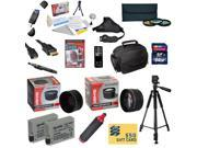 47th Street Photo Ultimate Accessory Kit for the Canon Rebel T2i, T3i, T4i, T5i, 650D, 700D, Kiss X5 Kiss X4, KissX6i, Kiss X7i, EOS 550D, 600D DSLR Digital Camera - Kit Includes: 64GB High-Speed SDXC