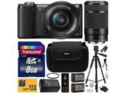 Sony Alpha A5000 20.1 MP Interchangeable Lens Camera with 16-50mm & 55-210mm F4.5-6.3 OSS Lens with 8GB Memory Card + x2 NP-FW50 Battery + Charger + Tripod + UV Filter + Carrying Case + $50 Gift Card