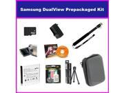 Ultimate Accessory Package For The Samsung DualView TL225 TL220 TL90 Digital Camera Includes 16GB Micro SD Memory, Card Reader, SLB-07A Replacement Spare Battery, Hard Shell Slim Case, + Flexible Mini