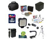 Best Value Accessory Kit for Canon Vixia HF G10, HF G20, HF G30, HF S20, HF S21, HF S30, HF S200 with 32GB Memory Card, 3 Piece Filter Kit, BP-819 Battery, Charger, Tripod, Case, Cleaning Kit, More