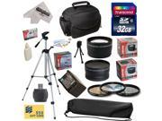 Ultimate Accessory Kit for Canon HF S10 S11 S20 S21 S30 S100 G10 G20 G25 HFS10 HFS11 HFS20 HFS21 HFS30 HFS100 HFG10 HFG20 HFG25 XA10 Video Camera Camcorder Includes - 32GB High-Speed SDHC Card + Card