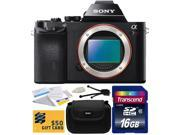 Sony a7R Full-Frame 36.4 MP Mirrorless Interchangeable Digital Lens Camera - Body Only (ILCE7R) with Starter Accessories Bundle Kit includes 16GB Class 10 SDHC Memory Card + Hard Shell Carrying Case +