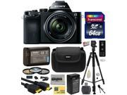 Sony a7K A7 Full-Frame DSLR 24.3 MP Interchangeable Digital Lens Camera with FE 28-70mm f/3.5-5.6 OSS Lens with Amateur Accessories Bundle Kit includes 64GB Class 10 SDHC Memory Card + Replacement (12