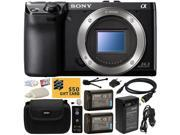 Sony NEX-7 NEX7 NEX7/B Compact 24.3 MP Mirrorless Interchangeable Lens Camera - (Body Only) with x2 Replacement NP-FW50 Battery, Carrying Case, Charger, Wireless Shutter, Cleaning Kit, $50 Gift Card