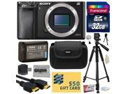 Sony Alpha a6000 24.3 MP Mirrorless Interchangeable Lens Camera - Body Only (ILCE6000) with Best Value Accessories Bundle Kit includes includes 32GB Class 10 SDHC Memory Card + Replacement (1200mAh) N
