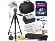 Best Value Kit for Panasonic SD40, SD60, SD80, SD90, SDX1, S45, S50, S70, S71, T50, T55, T70, Camcorder with 16GB SDHC Card, VW-VBK180 2000mAh Battery, Carrying Case, Tripod, $50 Gift Card