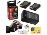 2 Extended Life Replacement Battery Packs For the Nikon EN-EL9 EL9 2000mAh Each 4000mAh in Total For The Nikon D40 D40x D60 D3000 D5000 DSLR Digital Camera + 1 hour AC/DC Rapid Battery Charger + Optek