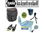 Opteka Professional Digital Accessory kit for the Kodak PLAYTOUCH, Zi8, Zx1, PLAYSPORT, ZxD Compact HD video camcorder includes Opteka cleaning kit, case, HDMI cable, USB AC Charger and more