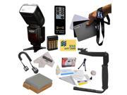 Kit for Canon EOS Rebel T2i T3i T4i T5i DSLR includes Vivitar Series 1 DF-583 Power Zoom DSLR Wireless E-TTL Flash With LCD Display, Flash Bracket, LP-E8, Charger, AA Batteries & Charger, Remote +More