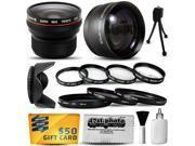 Canon PowerShot SX40 HS SX30 SX20 SX10 SX1 Ultimate 15 Piece lens Kit Package Includes 0.20X Super Wide Angle Fisheye lens, 5 PC Close-Up Set (+1, +2,+4 with 10X Macro Lens) , 2.2x HD AF Telephoto Len