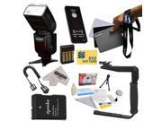 Kit for Nikon D3200 D5200 & D5300 DSLR Includes Vivitar Series 1 DF-583 Power Zoom DSLR Wireless i-TTL Flash With LCD Display, Flash Bracket, EN-EL14, Charger, AA Batteries & Charger and More