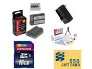 2 Batteries For Nikon EN-EL3E for Nikon DSLR Cameras Nikon D700 D300 D200 D100 D90 D80 D70 D70s D50 DSLR, Charger, 16GB SDHC Memory Card, Lens Cleaning Kit, Mini Tripod, $50 Photo Print Gift Card!