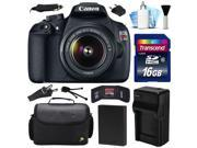 Canon EOS Rebel T5 1200D DSLR Digital Camera w/ 18-55mm Lens (16GB Value Bundle)